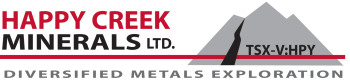 Happy Creek Minerals Ltd. Appoints new Director, President and Chief Executive Officer